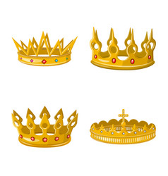 Design monarchy and gold sign vector