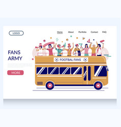 fans army website landing page design vector image