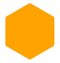 Filled hexagon flat icon vector
