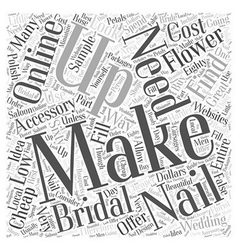 Finding cheap bridal accessories word cloud vector