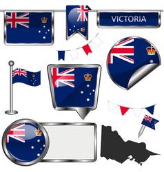 Flags victoria australia vector
