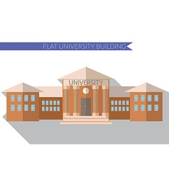 Flat design modern of University building icon vector image
