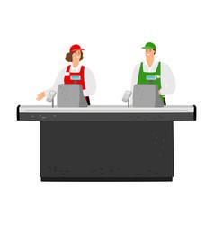 free cash desk vector image
