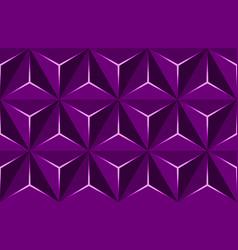 geometric 3d pattern purple basic shapes vector image