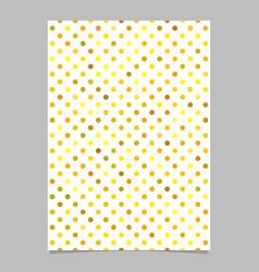 geometrical dot pattern brochure template vector image