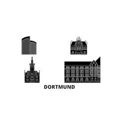 germany dortmund flat travel skyline set germany vector image