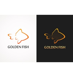 Golden Fish vector image