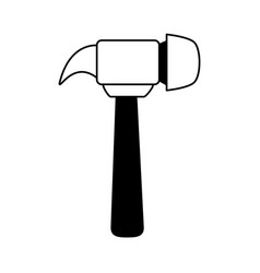 Hammer tool icon image vector