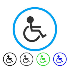 handicapped rounded icon vector image