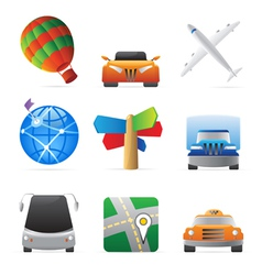 Icons for transportation vector image
