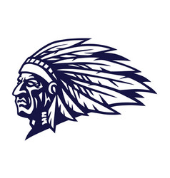 indian head mascot design vector image
