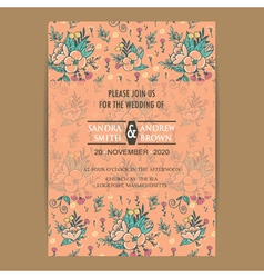 Invitation card orange vector