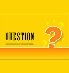 Large question mark sign on orange background vector