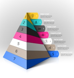 Layered pyramid steps design element vector