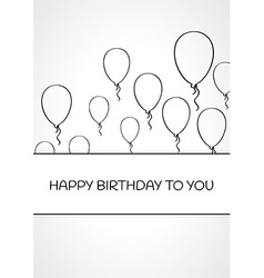 Linear birthday card vector