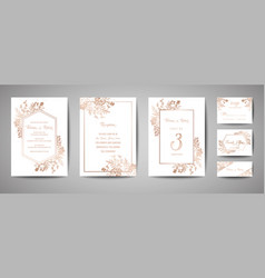 luxury wedding save date invitation cards vector image