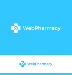 medical cross logo web pharmacy emblem vector image