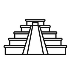 Mexican pyramide icon outline style vector