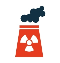 nuclear plant chimney icon vector image
