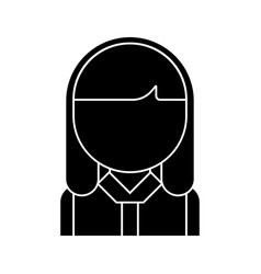 office woman head icon black vector image