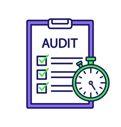 Operational audit color icon vector