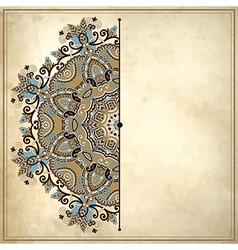 Ornamental floral circle pattern vector image