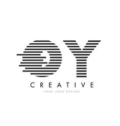 oy o y zebra letter logo design with black and vector image