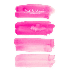 pink brush stroke watercolor on white background vector image