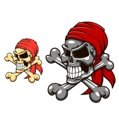 Pirate skull with crossbones vector
