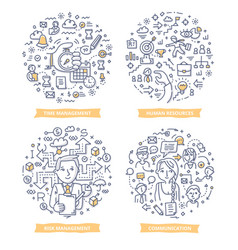 Project management doodle concepts vector