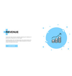revenue icon banner outline template concept vector image