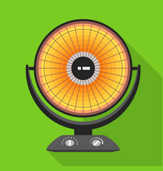 round heater icon flat style vector image