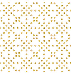 seamless pattern with golden glittering circles vector image