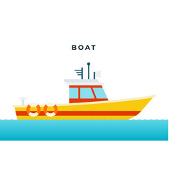 search and rescue boat with a white cabin vector image