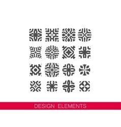 Set of decorative elements for design vector