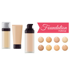 set of foundation cream vector image