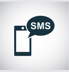 smartphone sms icon trendy symbol concept template vector image