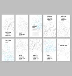 social networks stories design vertical banner or vector image