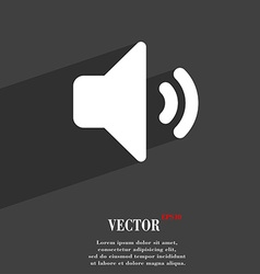 Speaker volume sound icon symbol flat modern web vector