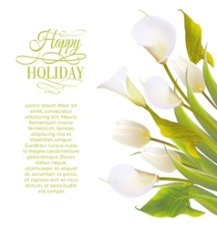 Spring flowers backround with text lettering vector image