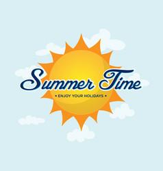 summer time design logo vector image