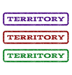 Territory watermark stamp vector