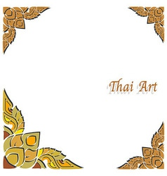 Thai art frame vector