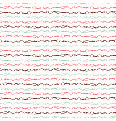 trendy pastel knitting wool yarn string stripes vector image