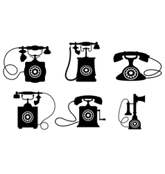 Vintage Telephone Set vector