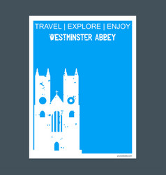 Westminster abbey london uk monument landmark vector