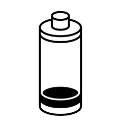 battery low level isolated icon vector image vector image