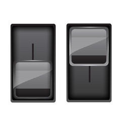 black switches vector image
