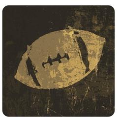 grunge american football icon vector image vector image