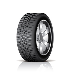 object tire side vector image vector image